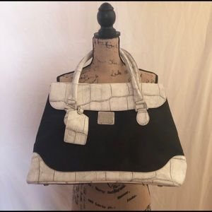 Studio by DVF Black and White Tote! 16x13